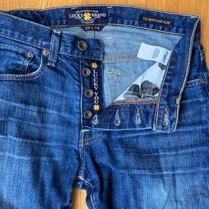 Lucky Brand 121 Heritage Slim - 29x34 Men's Jeans